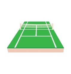 Green tennis court icon cartoon style vector image