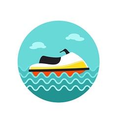 Jet ski icon summer vacation vector