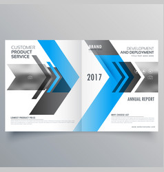 Modern business brochure template design in vector