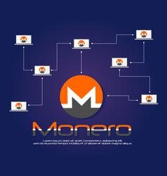 Monero bitcoin background style collection vector