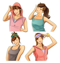 Pretty girl collection vector