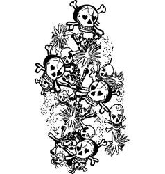 Skull rose design art vector