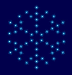 Star snowflake vector