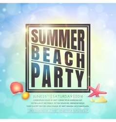 Summer beach party flyer vector