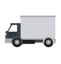 truck isolated icon design vector image