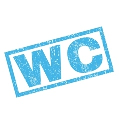 Wc rubber stamp vector