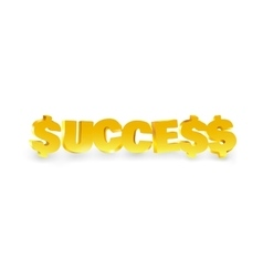 Word success made of gold vector image