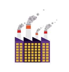 Building of industrial plant isolated icon design vector