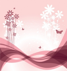 flower back vector image