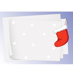 paper sheets and christmas bag vector image