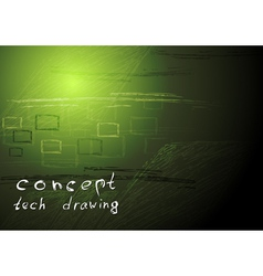Concept technical drawing vector image