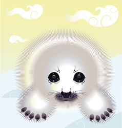 snow seal vector image