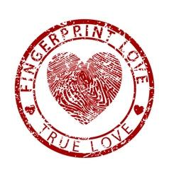 Fingerprint Love-True Love vector image