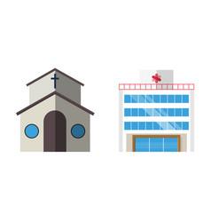 Cartoon church facade vector