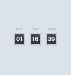 Flip countdown timer clock counter for vector