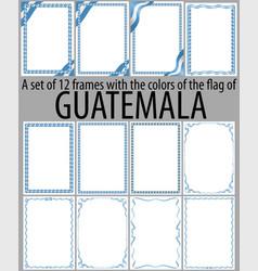 Flag v12 guatemala vector