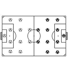 Soccer stadium field black vector