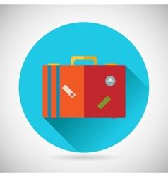 Summer vacation trip symbol traveler suitcase bag vector