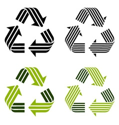 Striped recycle symbols vector