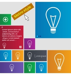 Light lamp sign icon idea symbol lightis on set of vector
