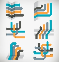 Abstract infographic arrows templates set vector