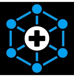 Medical network icon vector