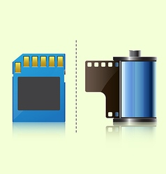 Film and sdcard vector