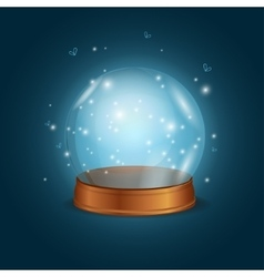Empty bright glowing crystal ball vector