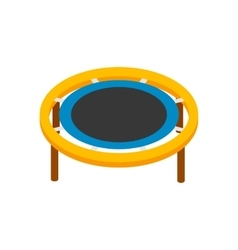 Trampoline jumping isometric 3d icon vector