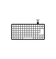 Computer keyboard icon simple style vector