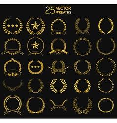 25 wreaths vector