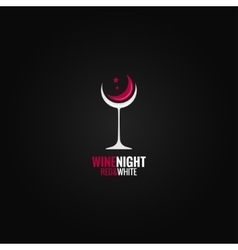 Wine glass concept design background vector