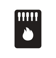 Flat icon in black and white style matchbox and vector