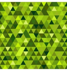 Abstract green mosaic background vector image vector image