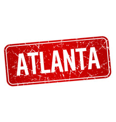 Atlanta red stamp isolated on white background vector