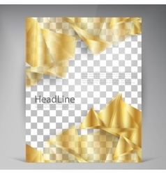 Beautiful gold satin flyer vector