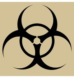 Biohazard symbol sign isolated vector image