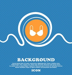 brassiere top icon sign Blue and white abstract vector image