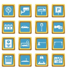 car parking icons azure vector image