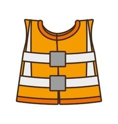 Cartoon reflective vest safety work design vector