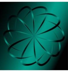 Dark green swirl background vector