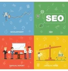 Development SEO annual report creative ideas vector image