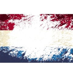 Dutch flag grunge background vector