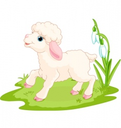 Easter lamb vector