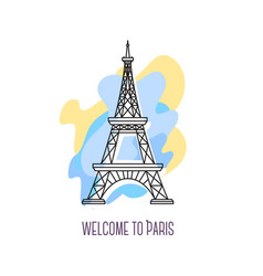 eiffel tower paris landmark symbol of france vector image
