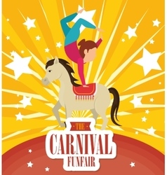 Entertainment carnival funfair banner vector