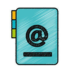 folder document with arroba symbol vector image vector image