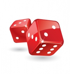 glossy dices vector image vector image