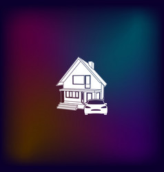 house concept icon vector image
