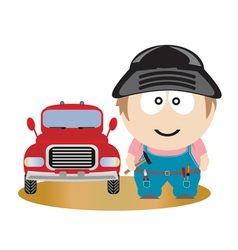 mechanic vector image vector image